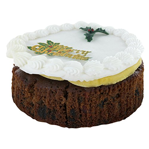 Christmas Cakes - Top Iced Christmas Cake by Norfolk Manor - 32oz - 907g
