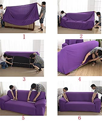 WOMACO L Shape Sofa Covers Sectional Sofa Cover 2 pcs Stretch Sofa Slipcovers for L-shape Couch