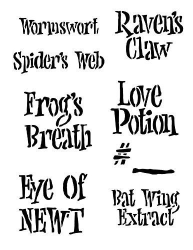 Halloween Fun Potions Labels Stencil]()