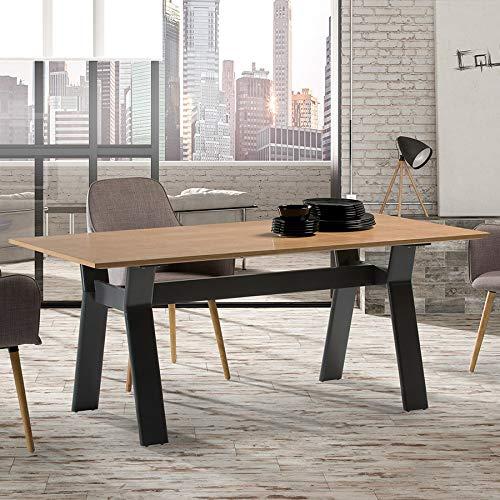 Kay - Mesa de comedor de madera y metal