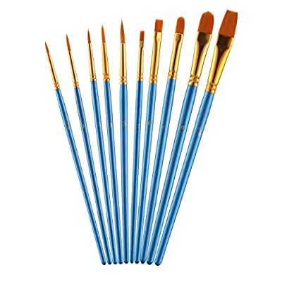 LOKIPA Paint Brushes Professional Artist Paint Brushes Set Round Pointed Tip Nylon Hair for Watercolor Oil Acrylic Painting