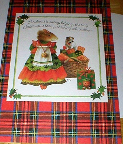 (1994 Hallmark Vera the Mouse Holiday Christmas Card by Marjolein Bastin)