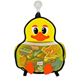 Bath Toy Organizer for Bathtub Toys Storage : Enhance Your Kids Bath Time with Our Cute Yellow Duck Toy Holder | This Net, Mesh Mold Resistant Bag Will Keep Your Baby Bath Tub, Shower Neat