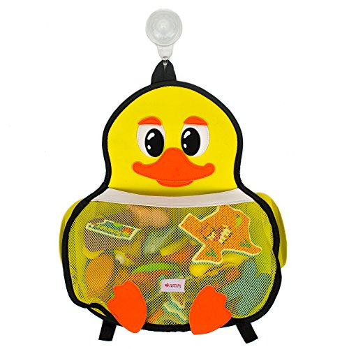 Bath Toy Organizer for Bathtub Toys Storage : Enhance Your Kids Bath Time with Our Cute Yellow Duck Toy Holder | This Net, Mesh Mold Resistant Bag Will Keep Your Baby Bath Tub, Shower Neat by CHOPOSH™
