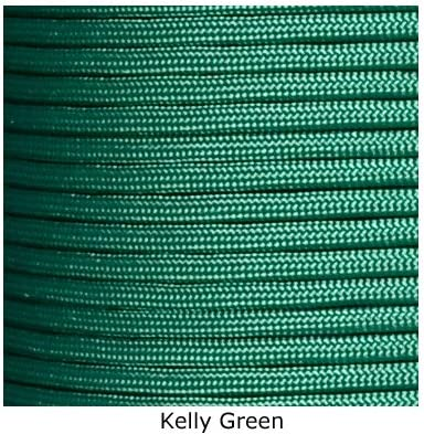 Kelly Green Paracord Rope Survival Bracelet 9 Feet 7 Strand 550 LB Made in USA