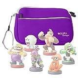 Purple Water & Scratch Resistant Neoprene Zip Case - Compatible with Nintendo Amiibo Figures (Wii U / 3DS / Nintendo Switch) - by DURAGADGET
