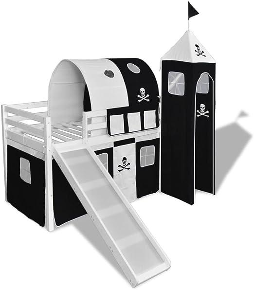 WECHEERS Mueble para dormitorio infantil con escalera y ...