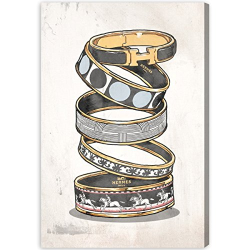 "The Oliver Gal Artist Co. 'Arm Candy Noir' Canvas Art, 10""x1"