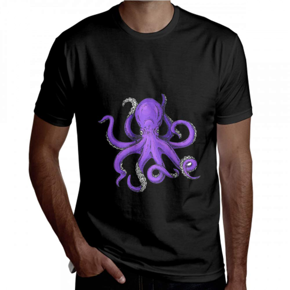 Wanjuax Summer Shirts for Men Kawaii Funny Cartoon Octopus Baby Short Sleeve Mens