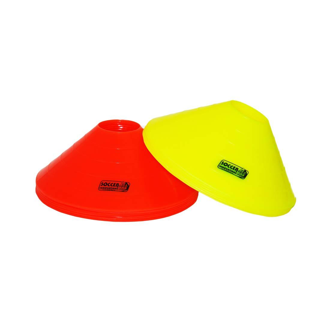Soccer Innovations ジャンボトレーニングコーン イエロー/オレンジ 24個セット 8-Inch  B00CEQ7H2C