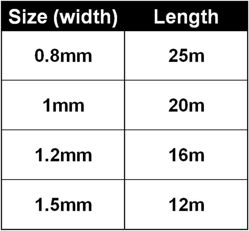 Not null filo di perle stretch per il cucito di accessori fai da te FADDARE 1 mm filo elastico rotondo Taglia unica bianco 25 m elastico
