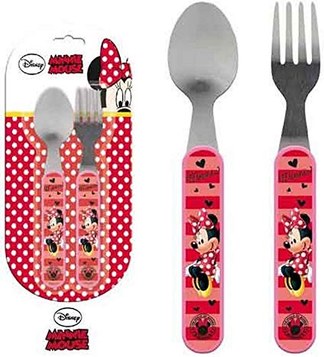 Disney LR0198 Minnie Mouse Kids Cutlery Set Spoon and Fork ELI