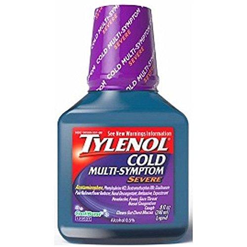 - TYLENOL Cold Multi-Symptom Severe Daytime Liquid, Cool Burst 8 oz (Pack of 4)