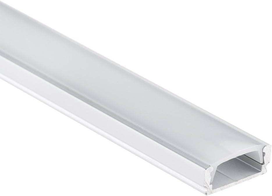 """1m ALU-Profil /""""SLIM/"""" mit diffuser//milchiger Abdeckung für LED-Streifen"""