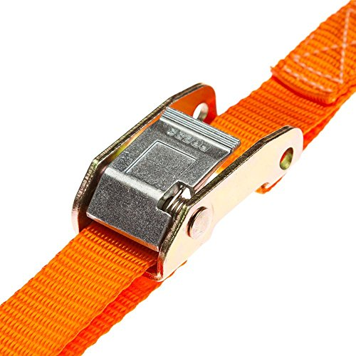 Discount Ramps Rage Powersports VH-Strap-C-10-O Tie-down Strap Set (120' Orange Motorcycle and ATV Cam Buckle) by Discount Ramps (Image #2)