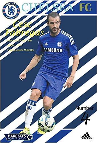 Cesc Fabregas CHELSEA F.C. 2014 - 2015 Football Soccer Player Wall Decoration Poster (#001)