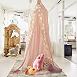 Are There Beds Bigger Than King Size Mosquito Net Canopy, Didihou Round Lace Dome Bed Canopy Netting Princess Mosquito Net Bonus Hanging Decorations for Baby Kids Reading Play Indoor Games House (Pink)