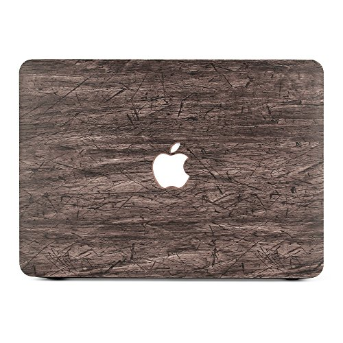 B BELK New MacBook Pro 15 Inch (2016 Release) Case,2 In 1 Wood Texture Pattern Coated Plastic Hard Case With Keyboard Cover For MacBook Pro 15.4