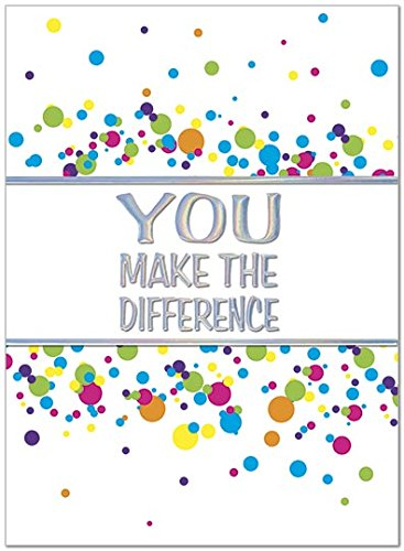 25 Employee Anniversary Cards - You Make the Difference - 26 White Envelopes - Eco Friendly - A5067U V31