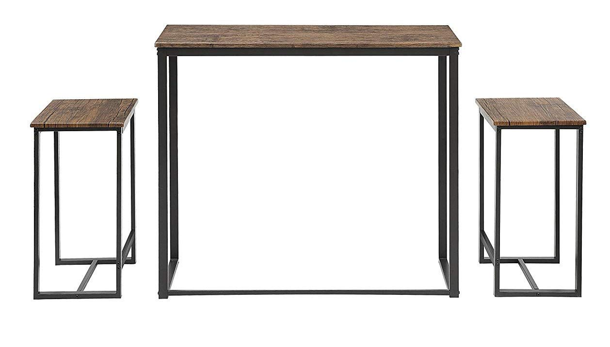 Abington Lane Kitchen Table Set - Versatile, Tall, Modern Table Set for Any Room or Occasion (2 Stools)