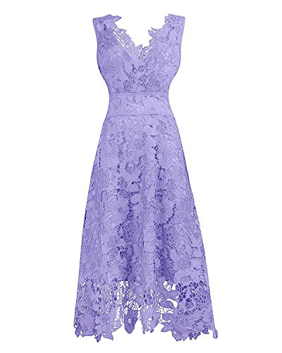 Lavender Floral Dress - 9
