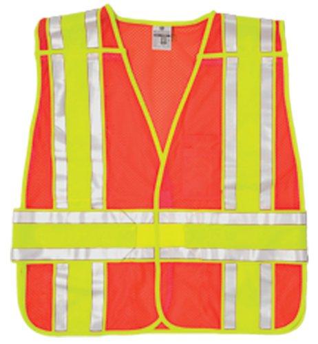 ML Kishigo 1167BA Ultra-Cool Polyester Mesh 4 Season Breakaway Vest, Fits Medium to Extra Large, Orange Cool Mesh Breakaway Vest