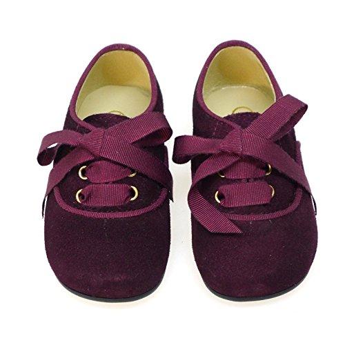 Zapatos Primeros Pasos Ingleses Pepitos Clarys 0799 Burdeos BURDEOS