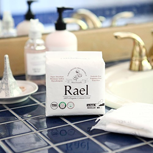 Rael Certified Organic Cotton Menstrual Regular Pads
