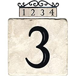 NACH AZ-CLASSIC-3 Marble House Address/Number Tile, Beige