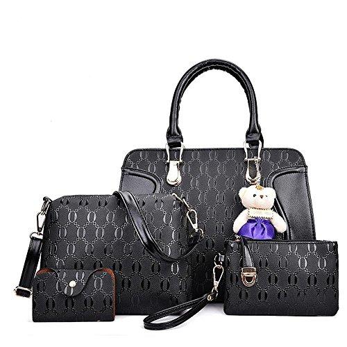 Aoligei Package Five Women Bear Bag Single Shoulder Bag Lady And