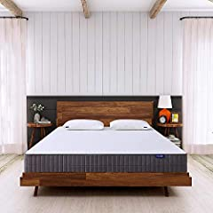 Sweetnight queen mattress in a box, Improve sleep quality optimal deep sleep NO RISK WARRANTY - We guarantee the best price mattress you can get. We are the maker, no channel cost, real quality at half price. - Our bed mattress come with 10 y...
