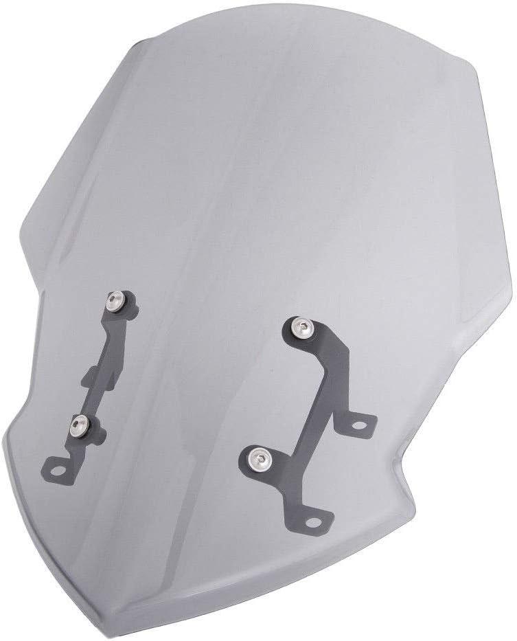 XZANTE Protector del Deflector del Parabrisas Delantero del Parabrisas de la Motocicleta con Soporte para 2018-2019 MT FZ 07 MT-07 FZ-07 Accesorios de la Motocicleta Humo Ligero