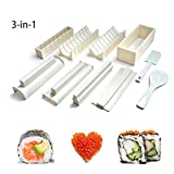 Easy Sushi Maker 10 Pcs Sushi Roll Making Kit Set for Beginners Kids