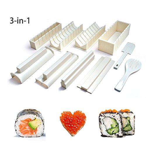 Easy Sushi Maker 10 Pcs Sushi Roll Making Kit Set for Beginners Kids by Beautyer