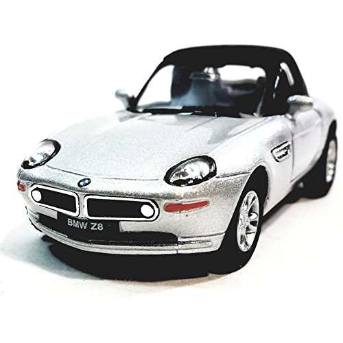 Kinsmart BMW Z8 Silver Softtop Convertible 2 Door Coupe 1/36 Scale Diecast Car