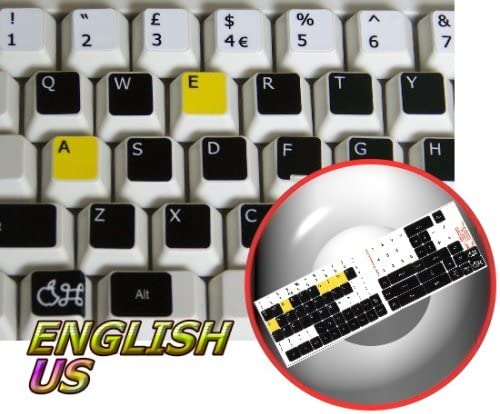 Learning English US Colored MAC Keyboard Stickers Work with Apple