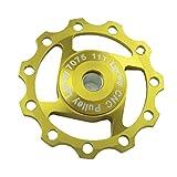 Lerway Aluminium Jockey Wheel Rear Derailleur Pulley SHIMANO SRAM 11T 1pcs (Gold)