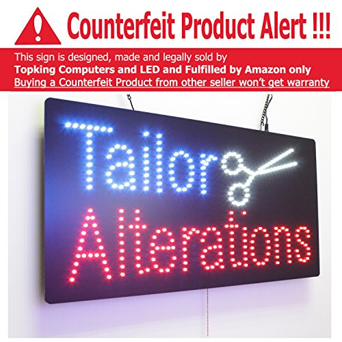 Tailor Alterations Sign, Super Bright High Quality LED Op...