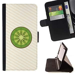 Momo Phone Case / Flip Funda de Cuero Case Cover - Arte Kiwi Fruta Fresca Verde de Alimentos Saludables - MOTOROLA MOTO X PLAY XT1562
