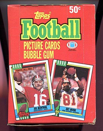 1990 Topps Football Wax Pack Box Joe Montana Jerry Rice Dan (Topps Football Wax)