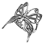 Sterling Silver Women's Filigree Wings Butterfly Ring (Sizes 6-10) (Ring Size 5)