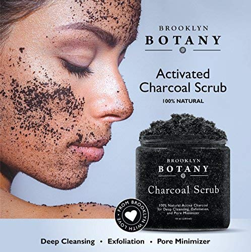 Premium Activated Charcoal Scrub 10 oz - For Deep Cleansing & Exfoliation - Pore Minimizer & Reduces Wrinkles, Acne Scars, Blackhead Remover & Anti Cellulite Treatment - Body Scrub & Facial Cleanser by Brooklyn Botany (Image #4)