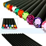 Yalulu (12Pcs/Set) Pencil Hb Diamond Color Pencil Stationery Items Drawing Supplies Cute Pencils For School Basswood Office School Cute