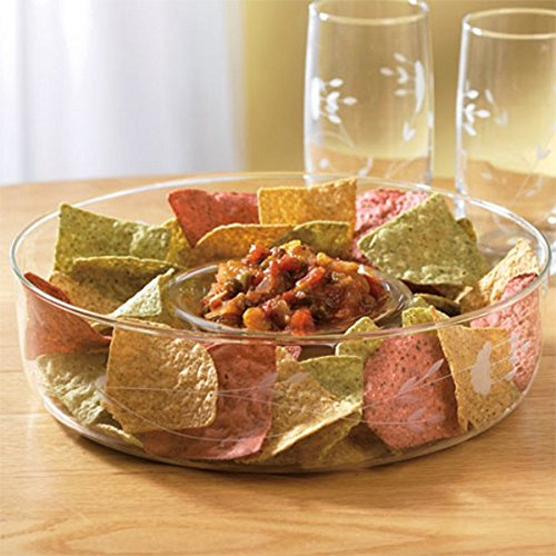 Princess House Crystal Chip N Dip Bowl