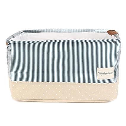eDealMax Cestas de almacenamiento p lino del algodón de la cesta de lavadero w Con cordón