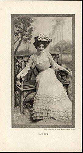 Marie Doro Talented Beautiful Silent Film Actress 1908 antique historic print ()