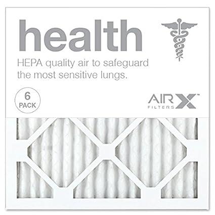 airx health 14x14x1 merv 13 pleated air filter - made in the usa ...