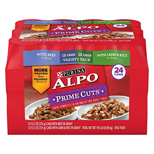 *Purina Alpo Prime Cuts in Gravy Wet Dog Food, Variety Pack (13.2 oz, 24 ct.) - 1 Box