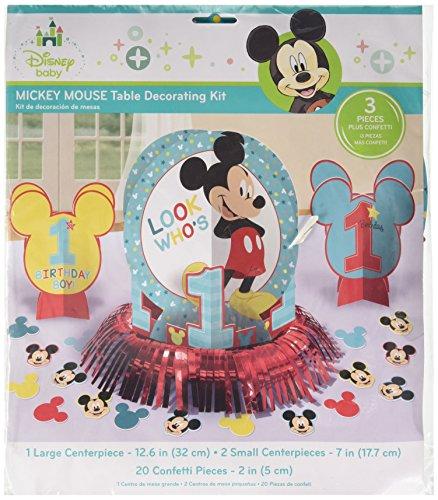 Kit Pack Fun Disney - amscan Disney Mickey's Fun to be One Table Decorating Kit, Birthday, 6 Ct.
