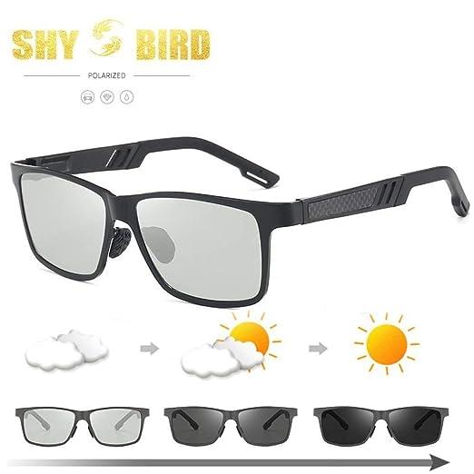 Yangjing-hl Gafas de Montura Redonda de Aluminio y magnesio Gafas ...